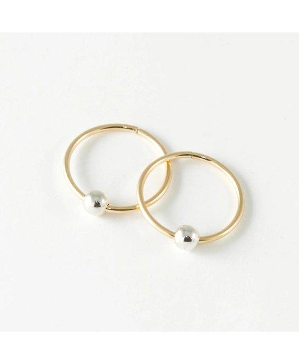 Boucles d'or. anneaux Dormeuses-or jaune 10K-petit