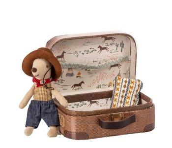 Souris Cowboy dans valise