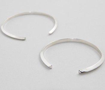 Bracelet ouvert Argent-médium-fil mince