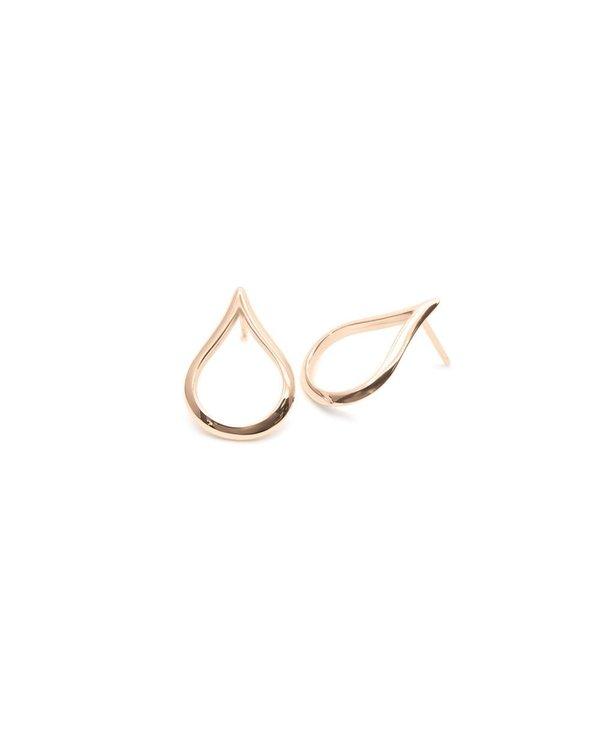 Boucles d'oreilles petite source/or rose 10kt