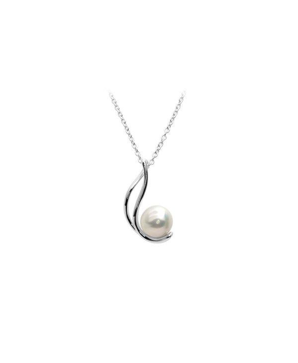 Collier berceaux argent/perle blanche