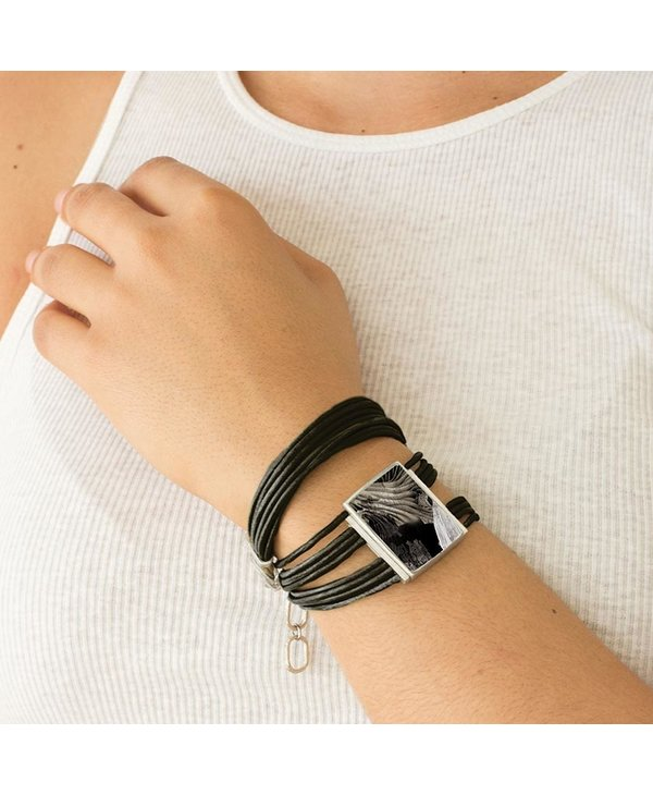 Bracelet Margareth, Corbeau/Raven