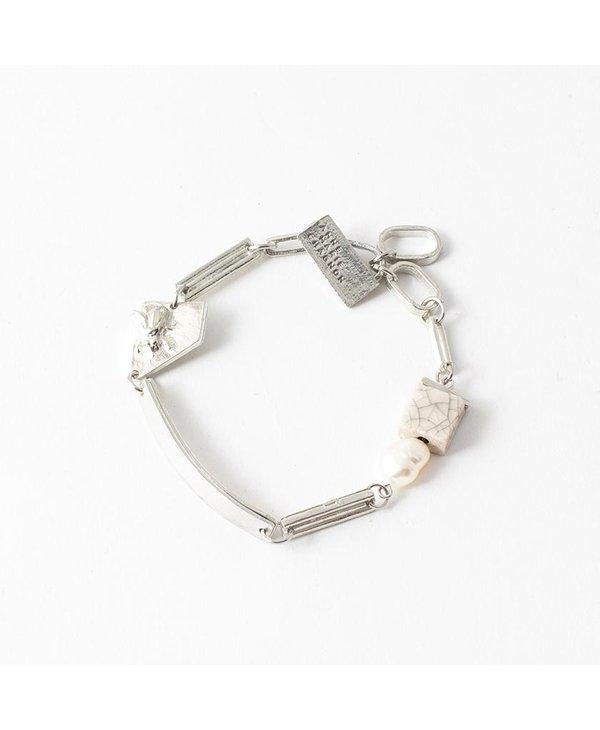 Bracelet Évanie, Coquille/Eggshell