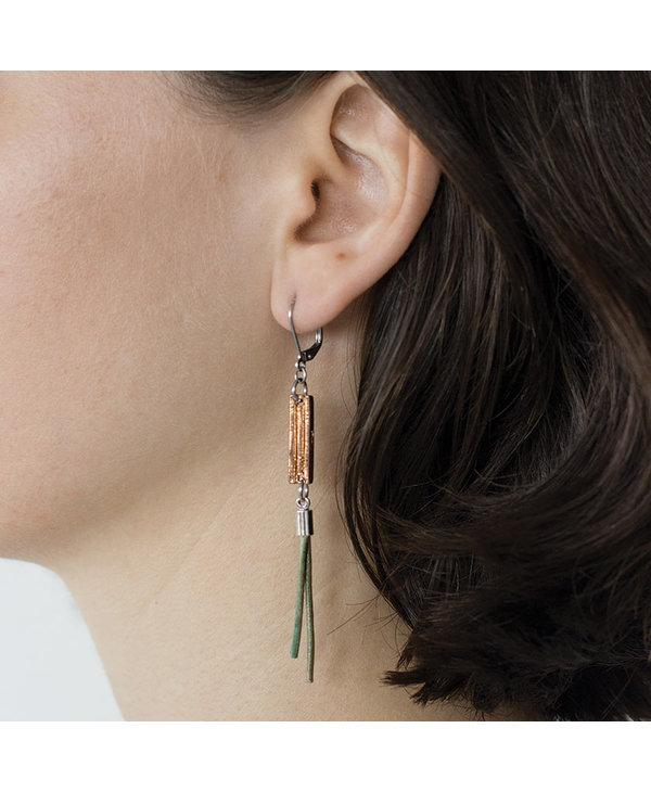 Boucles d'oreilles Mariette, Bronze
