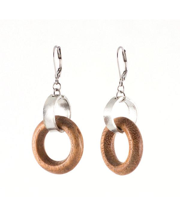 Boucles d'oreilles Aruka, Bois/Wood