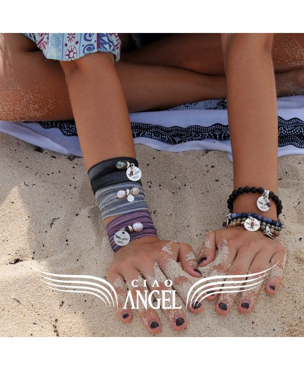 Bracelet Soie Bali Tahiti - framboise