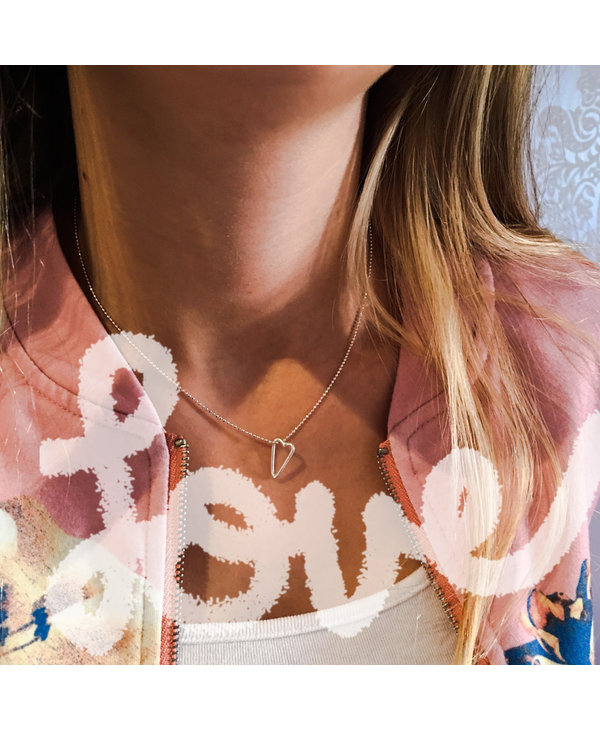 Collier Coeur Tracé 16''