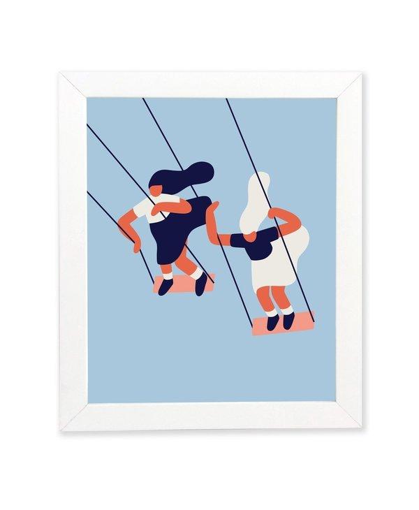 Poster - Balançoires