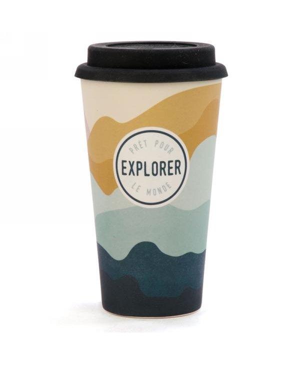 Tasse voyage en bambou - Explorer