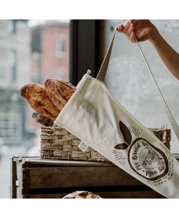 Sac à pain baguette réutilisable de Chanvre-conservation