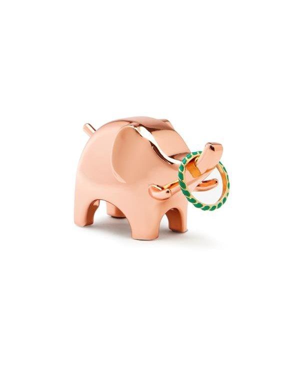 Support à bagues Éléphant en cuivre