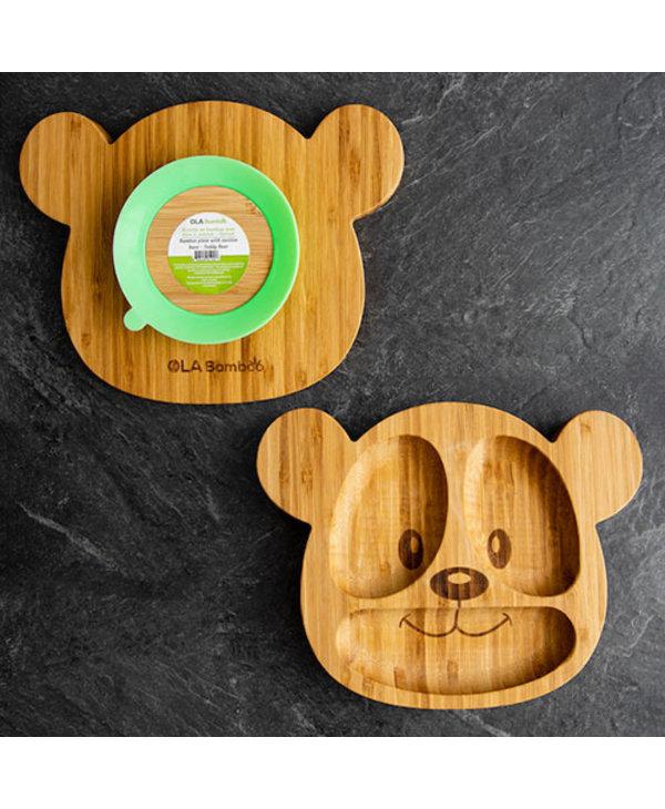Assiette de bambou-Ourson