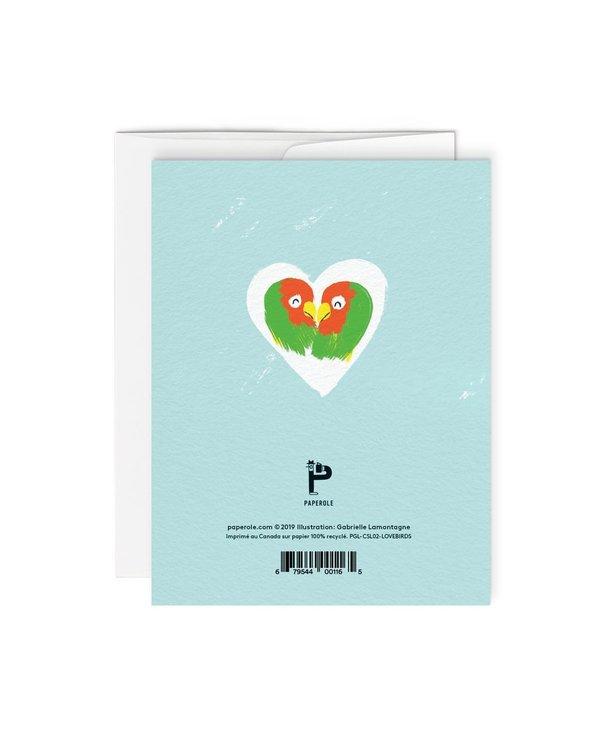 Carte de souhaits-Lovebirds