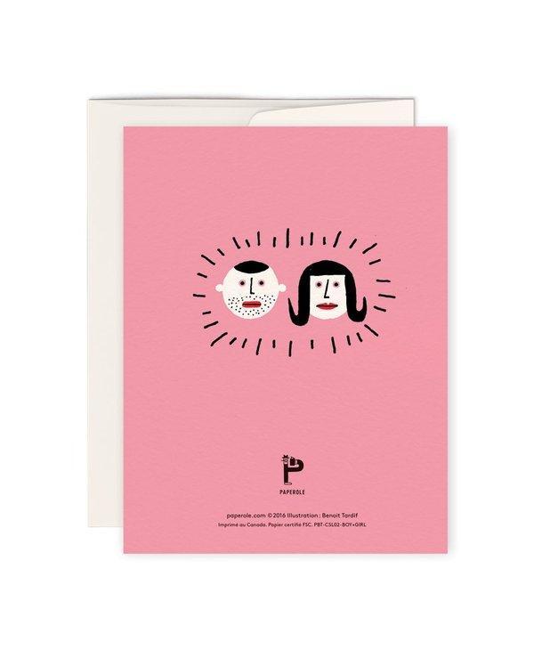 Carte de souhaits-BOY+GIRL