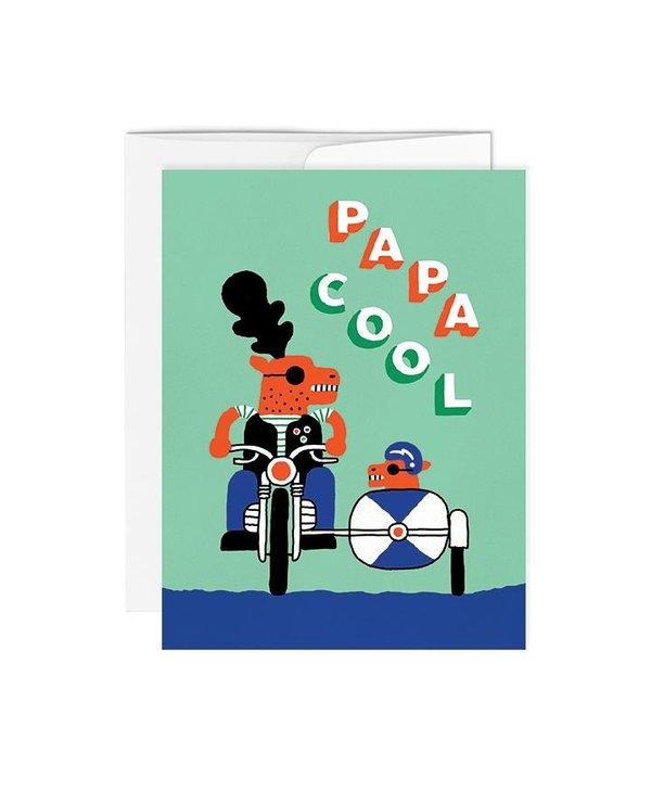 Carte de souhaits-papa cool