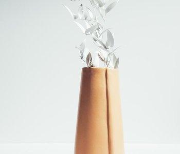 Vase satin cantaloupe