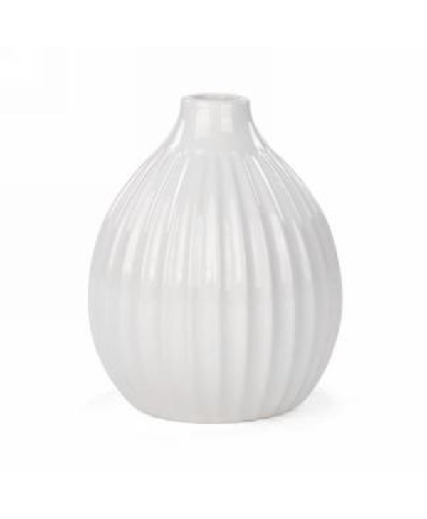 Vase 10.50'´ blanc strié