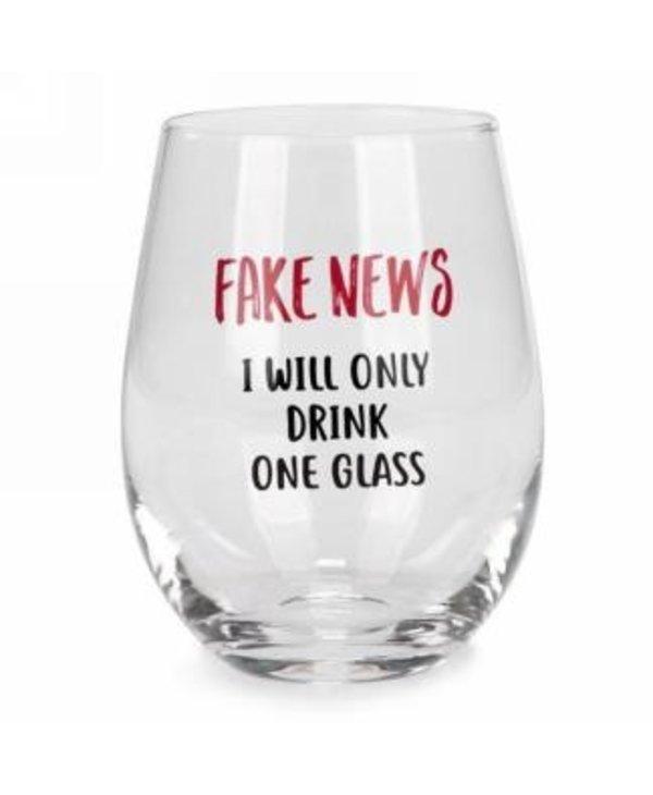 Verre à vin sans pied, fake news