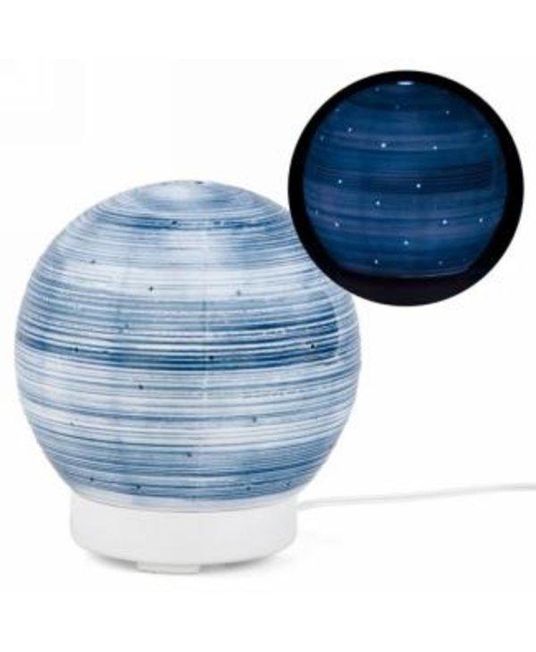 Diffuseur globe bleu et blanc