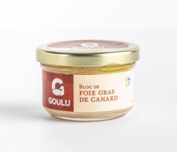 Bloc de foie gras de canard nature Goulu