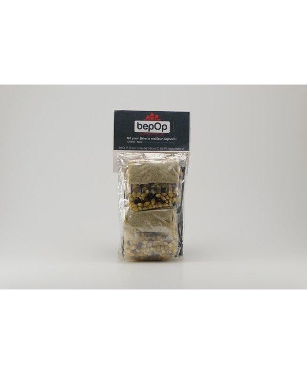 Kit emballage double de popcorn BepOp sel aux herbes