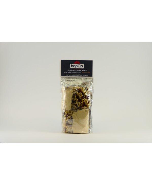 Kit emballage double de popcorn BepOp sucre d'érable