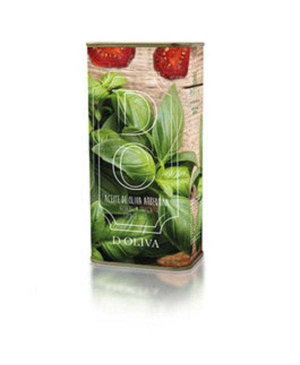 Huile d'olive espagnole3, tomates séchées et basilic, 500ml