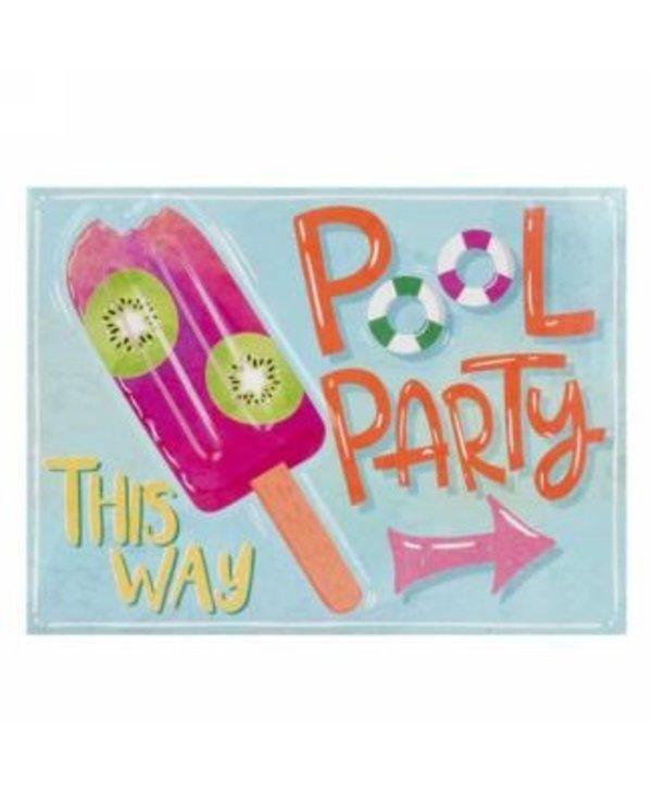 Plaque murale Pool Party