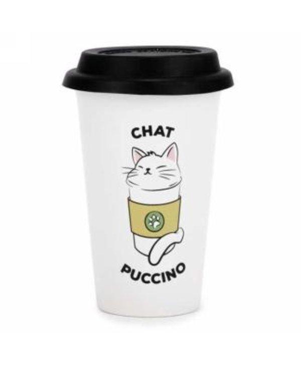 Tasse de voyage Chatpuccino