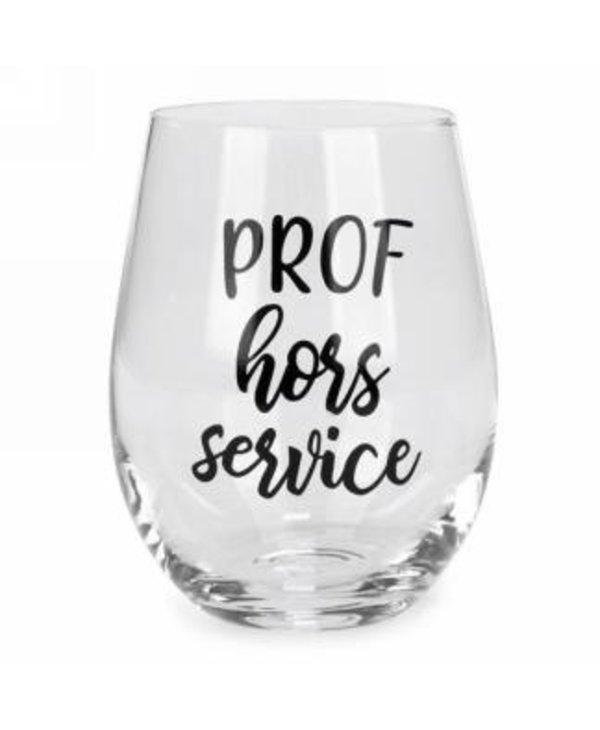 Verre à vin sans pied prof hors service