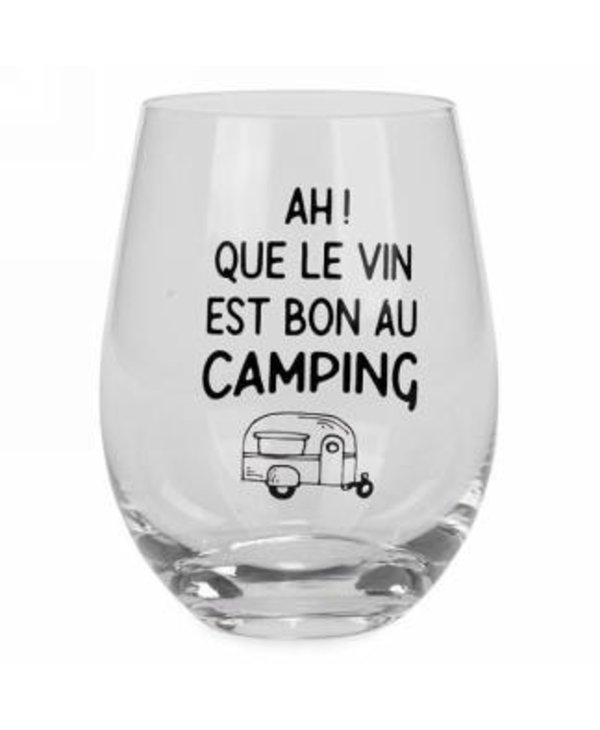 Verre à vin sans pied au camping