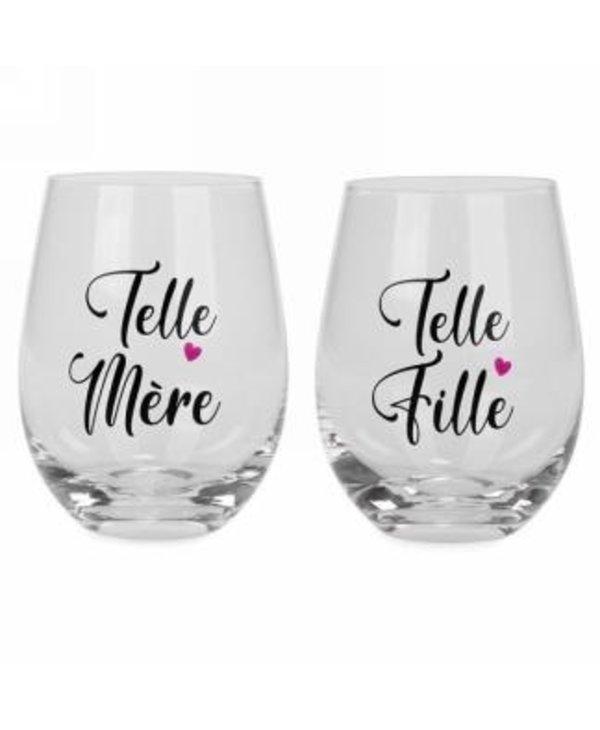 Duo de verres Telle mère Telle fille