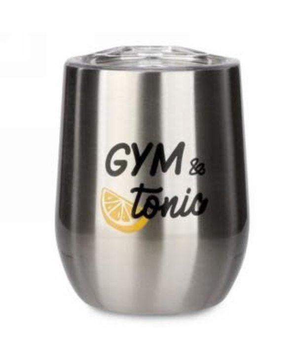 Gobelet de vin isolé Gym & Tonic