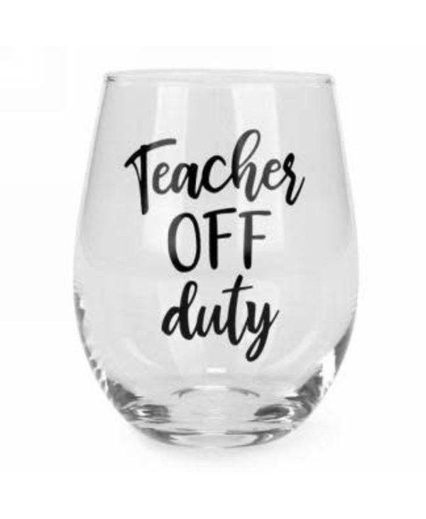 Verre sans pied Teacher off duty