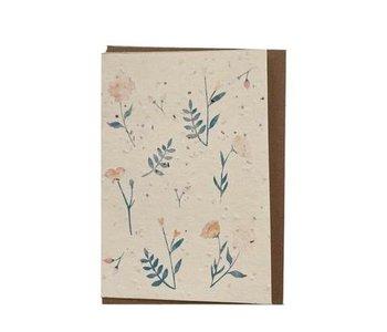 Carte de souhaits ensemencée- Fleurs