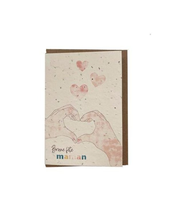 Carte de souhaits ensemencée- Bonne fête maman