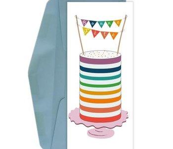 Carte de souhaits Bonne fête- gâteau