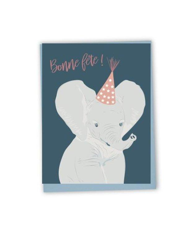 Carte de souhaits Bonne fête- éléphant
