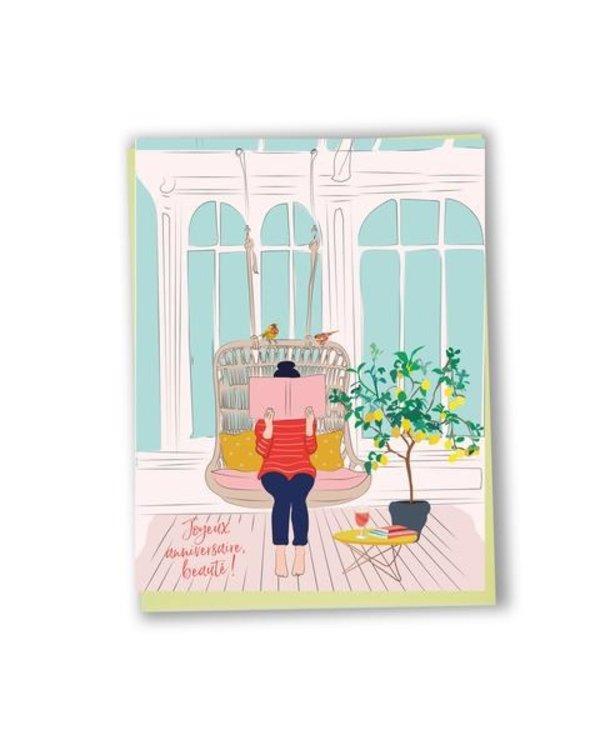 Carte de souhaits Joyeux Anniversaire beauté