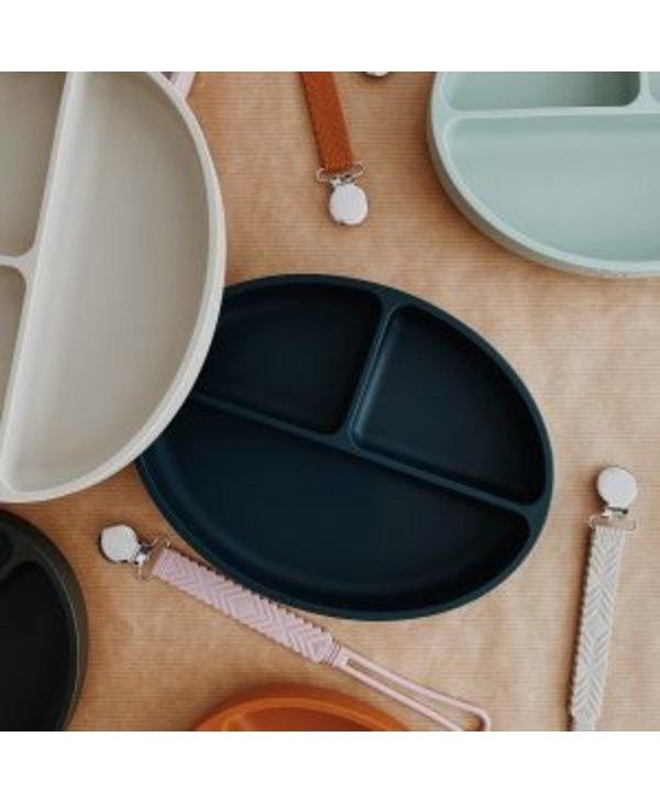 Assiette à compartiments silicone- Blush