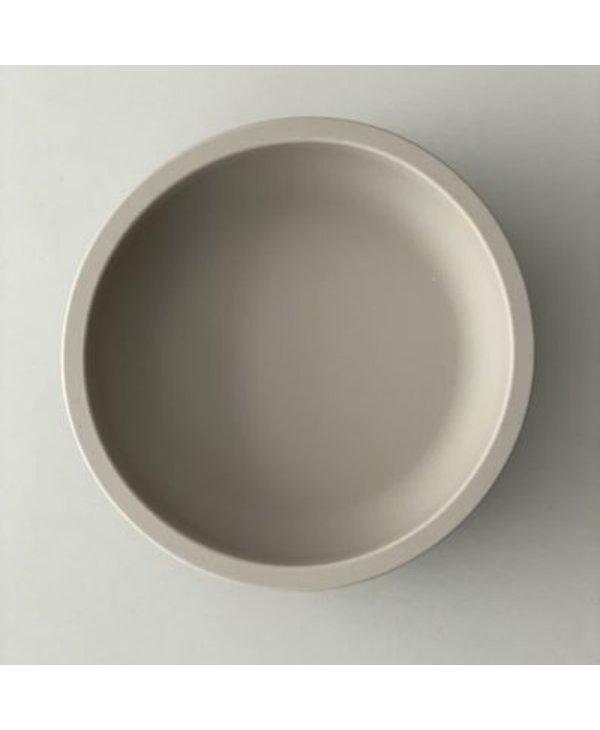 Assiette en silicone blush foncé