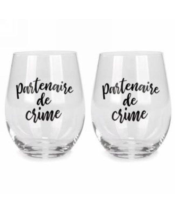Duo de verres Partenaire de crime