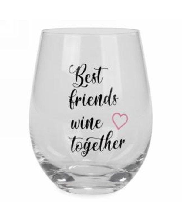 Verre à vin sans pieds -best friends