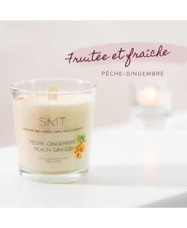 Bougie Pêche-Gingembre 270g