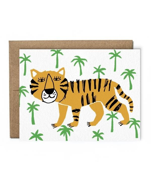 Carte de souhaits - Tigre