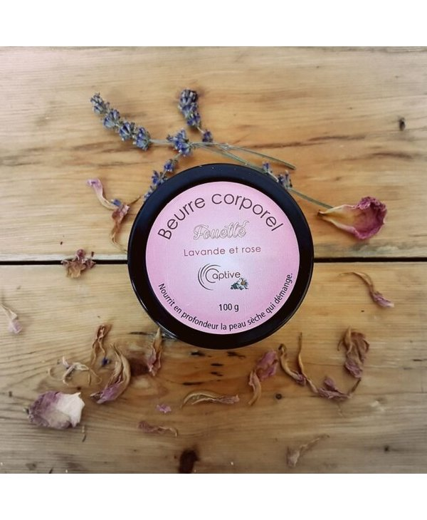 Beurre corporel fouetté lavande et rose