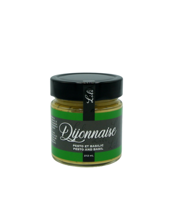 Moutarde dijon au pesto de basilic 212 ml