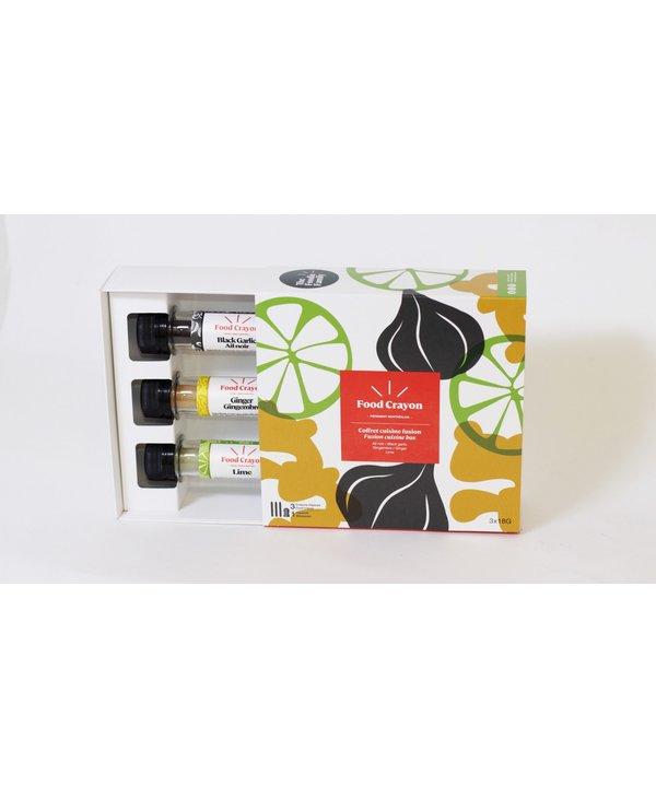 Épices coffret trio fusion: lime, gingembre, ail noir