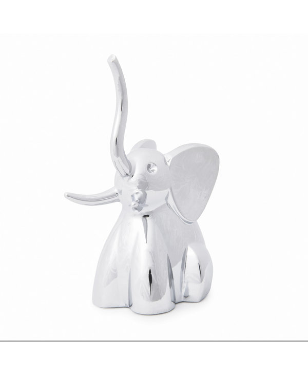 Support à bagues Éléphant chrome