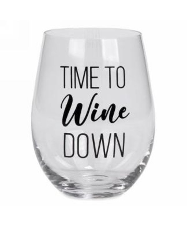 Verre à vin sans pied Time to wine down